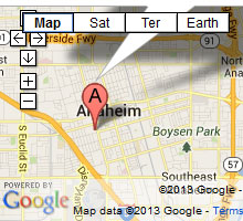 anaheim bail bonds map